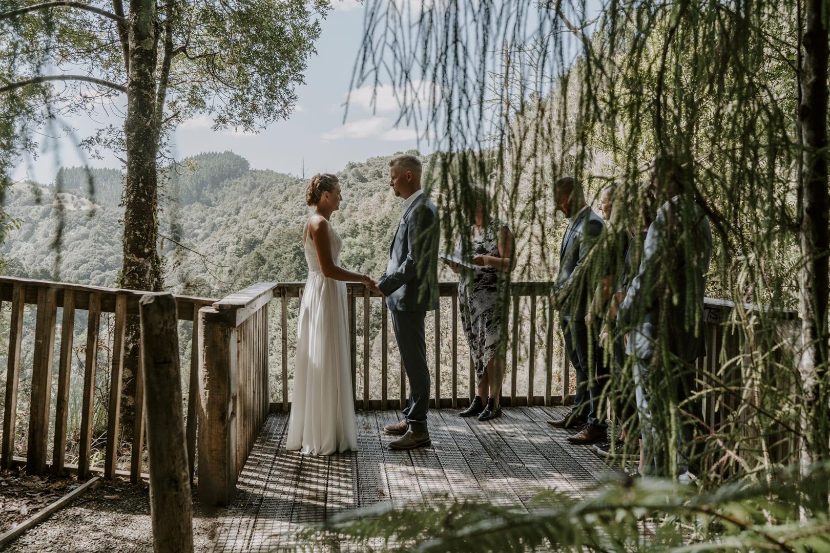 nz waterfall elopement